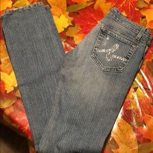 Flirty sparkley pair of Bebe jeans!